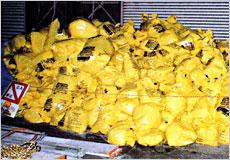 アスベスト廃棄物画像